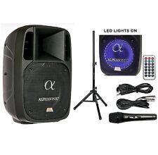 """ALPHASONIK 12"""" POWERED 2000W PRO SPEAKER DJ BLUETOOTH USB PA LED MIC USB STAND"""