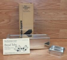 Genuine Pampered Chef (1555) Square Shape One Bread Tube w/ box & User's Guide