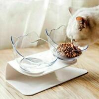 Haustier Dual Futternapf Fressnapf Katzennapf schräge für kleine Hunde Y6D0