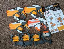 4 Hasbro Laser Tag Guns1 Orange 3 Yellow + Iphone/Ipod docks