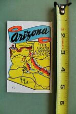 New listing Arizona Grand Canyon State Cowboy V12 Vintage 1960's Water Transfer Window Decal