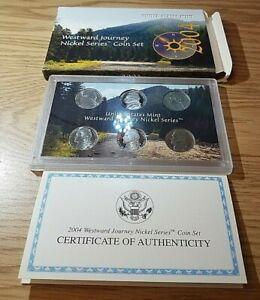 2004 United States Mint Westward Journey Nickel  Series Coin Set w/ Box + CofA