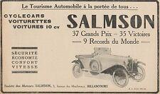 Y7264 Cyclecars et Voiturettes SALMSON - Pubblicità d'epoca - 1924 Old advert