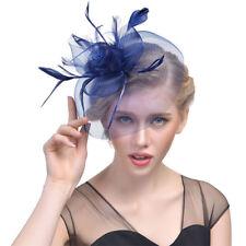 Feather Hair Fascinator Hair Clip Headband Mess Wedding Royal Races
