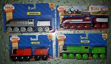 Thomas & Friends Wooden Railway Henry Caitlin Spencer James Lot of 4 Trains NEW