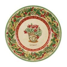 """Villeroy Boch Festive Memories Plate Cyclamen 8.5"""" New"""