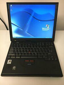IBM THINKPAD 600X PIII-500 320 MB MEMORY 40GB WINXP PRO FUNCTIONAL
