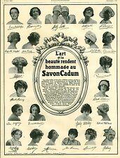 Publicité ancienne  produit de beauté savon Cadum 1925 issue de magazine