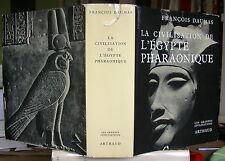 FRANCOIS DAUMAS LA CIVILISATION DE L'EGYPTE PHARAONIQUE 168 PLANCHES RELIE 1977