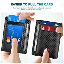 Slim Minimalist Front Pocket  Blocking Leather Wallets For Mens Women Wallet