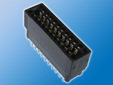 Steckkarten-Verbinder   2x 10-polig   Schwarz   Kartenrand Steckverbinder   PCB