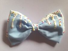 Pastel Blue Dripping Melting Hair Bow Kawaii Fairy Kei Sprinkles
