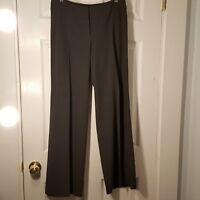 "J. JILL Size 6 Stretch Gray Wide Leg Pants Slacks 32"" Inseam Polyester Viscose"