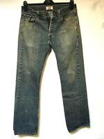 Levi's 501's jeans Straight leg Distressed Faded Hippie Boho punk Denim 32x32