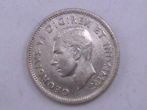 CANADA 1937 Silver 10 Cents