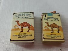 2 Camel Filters, Smooth Turkish &Domestic Blend 1 Flip Box 1 Other Lighters Lot