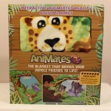 AniMates 4D Reality Jungle Themed Kids Educational Plush Blanket, Android or iOS