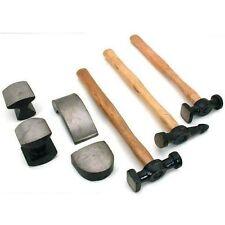 Pro 7PC Coche Auto Cuerpo Panel Kit de herramienta de reparación de abolladuras con cuerpo de madera paliza martillos