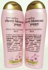 (2 Pack) Organix Ever Ageless Cherry Blossom Poppy Delicate Cleansing Milk 6.8oz