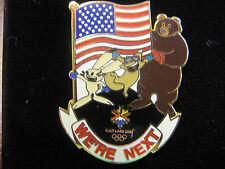 "2002 Salt Lake City Olympic Mascot ""We're Next"" Pin"