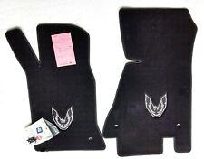 Lloyd's Pontiac Firebird Bird Logo Front Black Carpet Floor Mats Fits 1982-1992