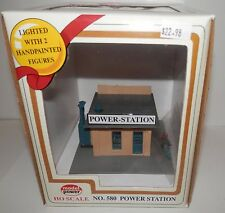 Model Power Ho Scale Lighted Power Station #580 Nib