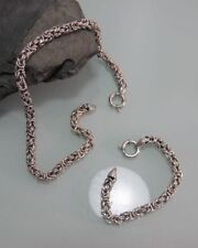 Königskette + Armband 925 Silber massive Ausführung großer Ringkarabiner