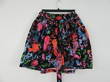 Thakoon Target Mini Skirt MultiColor Floral Bow Waist 100% Cotton Full Size 9