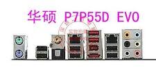 ASUS I/O IO SHIELD BLENDE BRACKET FOR P7P55D-E PRO NEU/NEW #G149 XH