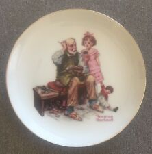 """Norman Rockwell Collector's Edition Limited Series 6"""" Plate - """"THE COBBLER"""""""