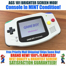 Nintendo Game Boy Advance GBA SNES System AGS 101 Brighter Backlit Mod MINT