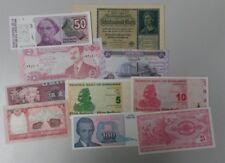 World Banknotes - Bulk Lot of 10 World Banknote Assortment of Notes Unc: Set # 1