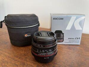 HD Pentax-DA 15mm F4 ED AL Limited Ultra Wide Angle Lens - As New