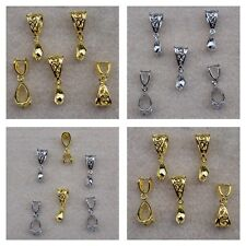 Large Silver or Gold Plated 27mm Filigree Hollow Pinch Bail Connectors