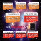 Lot Micro SD SDHC EVO Plus 16G 32G 64G128G SDXC C10 TF Memory Card Samsung