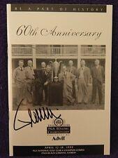 AUTOGRAPHED PGA EVENT PROGRAM SOUVENIR>1999> 60TH ANNIVERSARY VICENTE FERNANDEZ