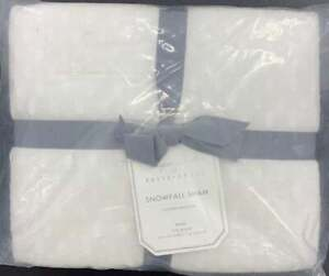 Pottery Barn Monique Lhuillier Snowfall Cotton Sham, King 20X36IN, FREE SHIPPING
