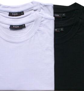 Hajo Basic Shirt, T-Shirts Shirts Doppelpack Rundhals weiß, schwarz, SALE S-5XL