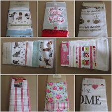 A set of 3 tea towels 100% cotton  (030)