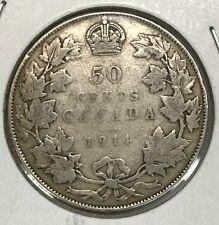 1914 Canada Fifty Cents - Nice Original VG
