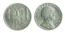 pcc1712_18) ALBANIA Vittorio Emanuele III  (1939-1943) 1 LEK 1939