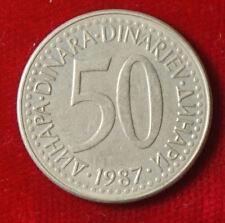 Münze Coin Jugoslawien Jugoslavija 50 Dinar Dinara 1987 (G8)