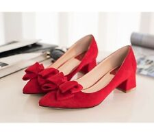 Suede Pumps, Classics Solid Medium (B, M) Women's Heels