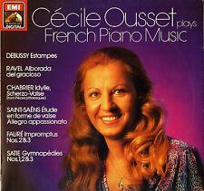 ASD 4390 Cecile Ousset Debussy Ravel Chabrier francés de música de piano Etc Lp PS EX/EX