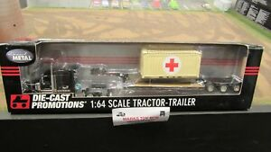 DCP#32295 FIKES RED CROSS CONTAINER INTERNATIONAL IH LONESTAR TRAILER 1:64/FC
