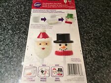 BNIB New Wilton Marshmallow Pop Mould - Snowman Santa - Candy Sweet Mold