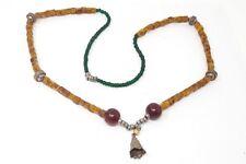 "Vintage Tibetan Bell Beaded Necklace  26"""