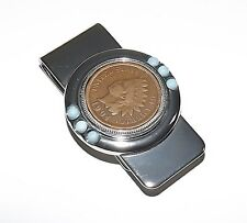 NEW U.S. MINT COINS GENUINE INDIAN HEAD PENNY METAL MONEY CLIP GIFT BOXED