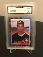 1988 Donruss Tom Glavine #644 Rookie Card (RC), Atlanta Braves, HOF, GMA 9 MINT