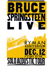 Bruce Springsteen 1997 Concert Poster - 8x10 Color Photo